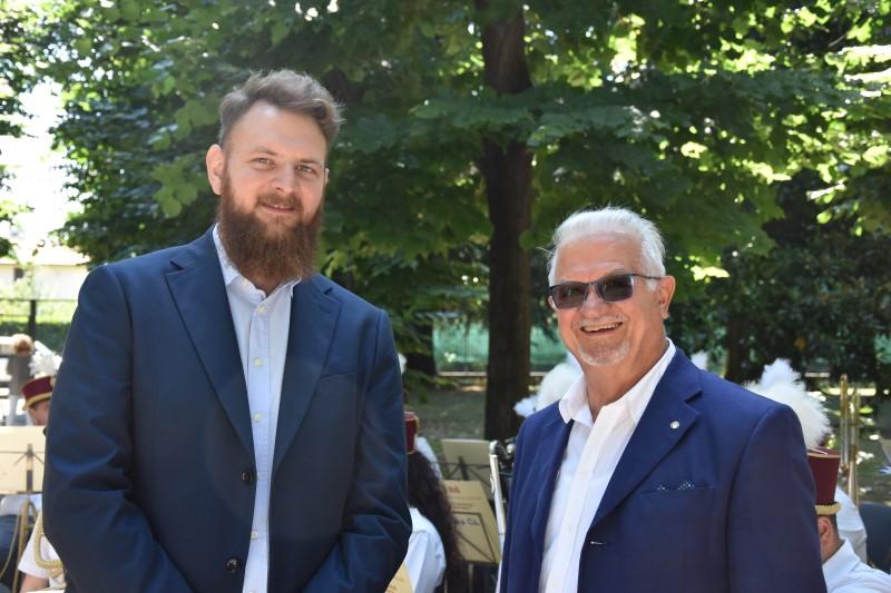 Michele Fioroni, Maestro della Banda, e Alessandro Baciocchi, Presidente Associazione Ex Martinitt ed Ex Stelline