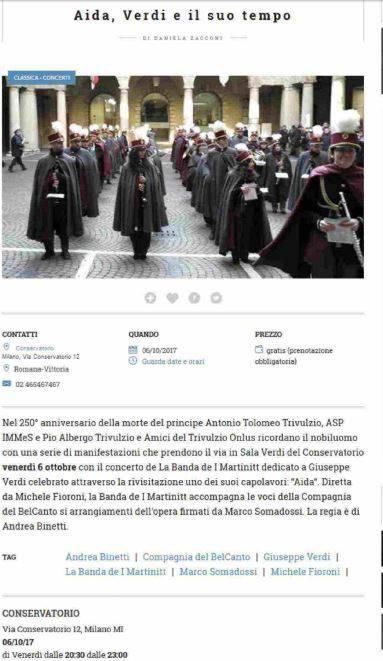 Aida, Verdi e il suo tempo. ViviMilano Corriere.it, 04.10.2017