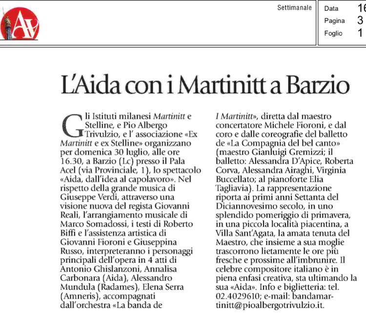 Aida, dall'idea al capolavoro. Avvenire, Ed. Milano Sette, 16.07.2017