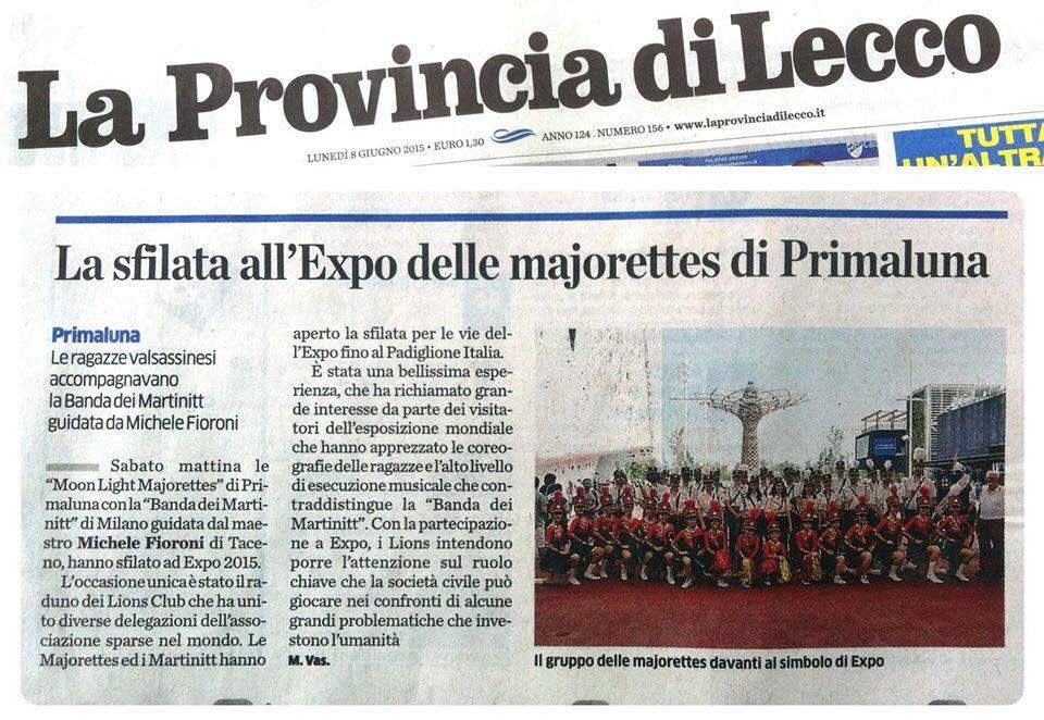 Expo 2015. La Provincia di Lecco, 08.06.2015