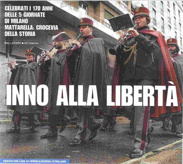 Commemorazione alle Cinque Giornate di Milano, Il Giorno 19.03.2018