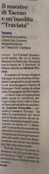 La Traviata. La Provincia di Lecco, 09.03.2016