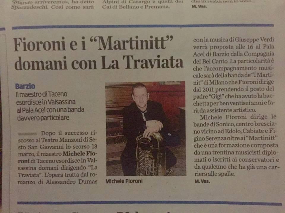 La Traviata. La Provincia di Lecco, 30.04.2016